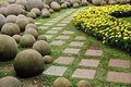A pathway in the garden Royalty Free Stock Photo