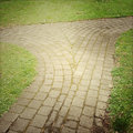 Pathway leading in two directions Royalty Free Stock Photo