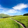 Pathway in mountains Stock Photos