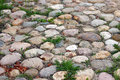 Pathway paved with large stones Royalty Free Stock Photo