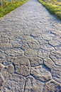 Pathway with paving stones and cobbles Stock Image