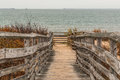 Pathway to Beach with Ocean at First Landing State Park Royalty Free Stock Photo