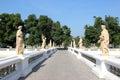 Pathway to the garden at bang pa in royal palace ayutthaya thailand Stock Image