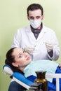 Patient afraid the dentist injection