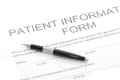 Patient form document close up of Stock Images