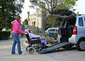 patient mobility transport for disabled Royalty Free Stock Photo