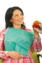 Patient woman receiving an apple Royalty Free Stock Photo