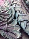Patina beautiful on antique bronze standard Royalty Free Stock Photos