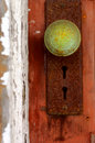 Patina Door knob Stock Photos