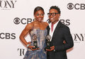 Patina miller and billy porter at the th annual tony awards press room shared the photographers attention both won in musicals for Royalty Free Stock Photo