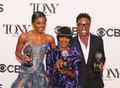 Patina miller cicely tyson and billy porter three tony winners at the th annual tony awards enjoy the moment at the press room Royalty Free Stock Photos