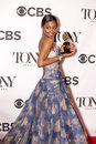Patina miller elegant glamorous and multi talented is a big hit in the press room following the th annual tony awards in new york Stock Photo
