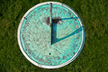 Patina weathered sundial Stock Image