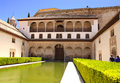Patio in alhambra granada spain Royalty Free Stock Photography