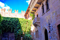 Patio and balcony of Romeo and Juliet house in Verona Royalty Free Stock Photo