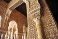 Patio de los Leones, Alhambra palace in Granada, Spain Royalty Free Stock Photo