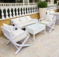 Patio furniture outdoor Stock Image