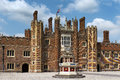 Patio of the source hampton court palace london is a royal in borough richmond upon thames greater uk Royalty Free Stock Images