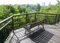 Patio, tree top boardwalk Royalty Free Stock Image