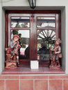 Patio window display Royalty Free Stock Photo
