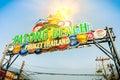 Patong beach welcom sign in phuket thailand Stock Photos
