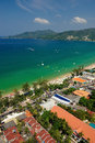 Patong tropical beach from aerial view phuket thailand Stock Photography