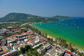 Patong tropical beach from aerial view phuket thailand Royalty Free Stock Photo