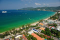 Patong tropical beach from aerial view phuket thailand Stock Images