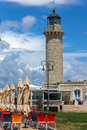 PATRAS, GREECE MAY 28, 2015: Amazing view of Lighthouse in Patras, Peloponnese, Greece Royalty Free Stock Photo