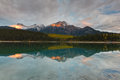 Patricia lake and pyramid mountain canada jasper national park alberta Stock Photos