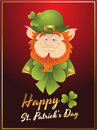 Patrick's Day Leprechaun Card Royalty Free Stock Photo