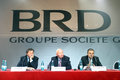 Patrick gelin ilie nastase and sorin mihai popa after leaving the management of brd was sent by societe generale in a new mission Stock Photography