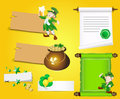 Patrick's Day Banners and Scrolls Royalty Free Stock Image