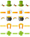 Patrick s Day Dividers Set [1] Royalty Free Stock Photos