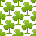 Patrick s Day Shamrock Seamless Pattern Royalty Free Stock Photo