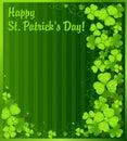 Patrick s för green för bakgrundsväxt av släkten Trifoliumdag st Royaltyfri Fotografi