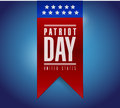 Patriot day banner sign illustration design over a blue background Stock Photography