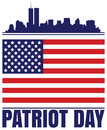 Patriot day design for with new york silhouette Royalty Free Stock Image