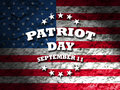 Patriot day greeting card american flag grunge background Stock Photos