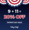 Patriot day sale promotion web banner.