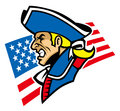 Patriot mascot vector of head Royalty Free Stock Images