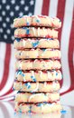 Patriot shortbread cookie with american flag Royalty Free Stock Photo