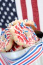 Patriot shortbread cookie with american flag Royalty Free Stock Images
