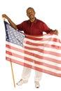 Patriotic African American man Royalty Free Stock Photo