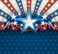 Patriotic American Background with Star Royalty Free Stock Photo