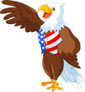 Patriotic american bald eagle presenting Royalty Free Stock Photography