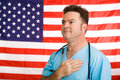 Patriotic American Doctor Royalty Free Stock Photo