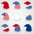 Patriotic american symbol for holiday eagle illustration eps Royalty Free Stock Photos