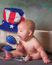 Patriotic Baby Royalty Free Stock Image
