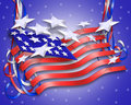 Patriotic Background Flag Stars and Stripes  Stock Images